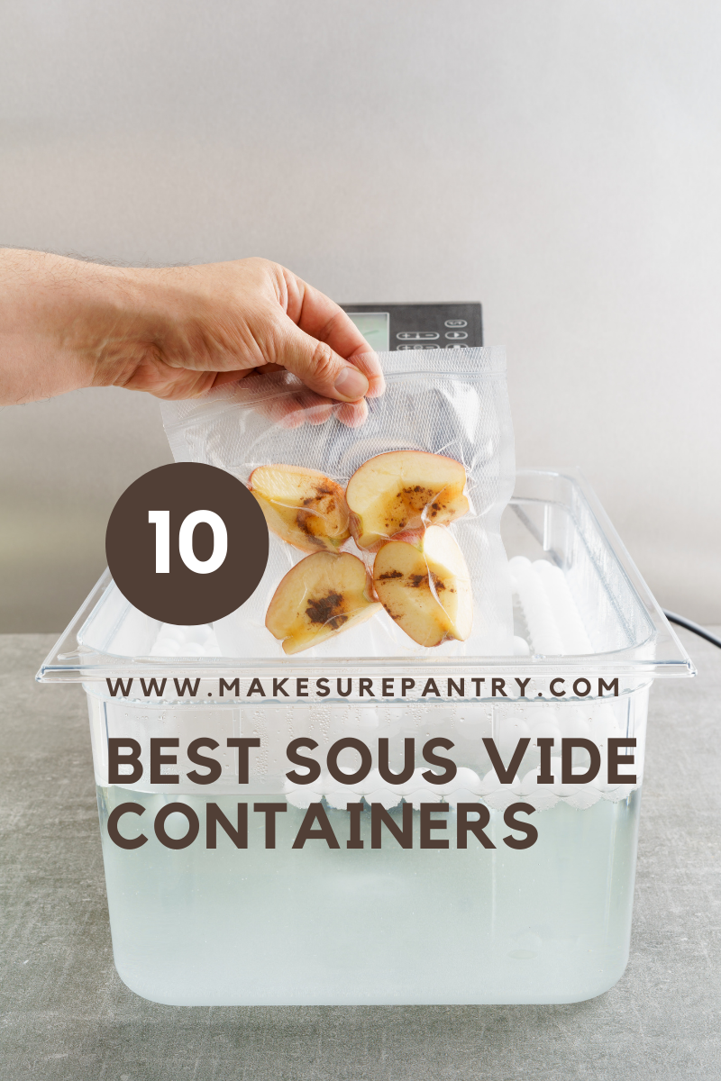 Sous vide containers for cooking
